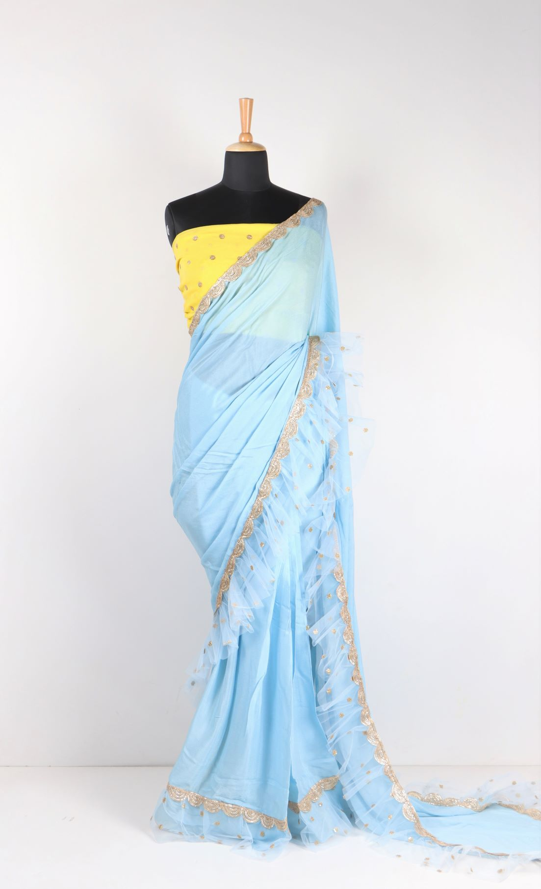 Frill Ruffle Saree Fashion Casa